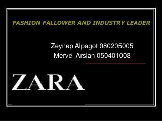Zeynep Alpagot 080205005 Merve  Arslan 050401008