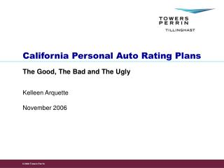 California Personal Auto Rating Plans