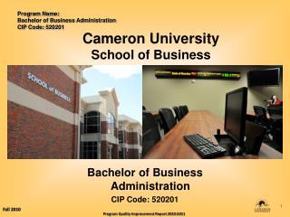 Cameron University School of Business