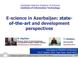 Azerbaijan National Academy of Sciences Institute of Information Technology