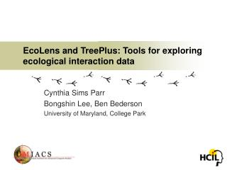 EcoLens and TreePlus: Tools for exploring ecological interaction data