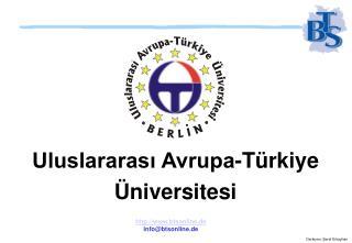 Uluslararası Avrupa-Türkiye Üniversitesi