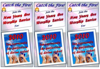 Join the  New  Years  Eve Worship  Service For