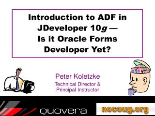 Introduction to ADF in JDeveloper 10g    Is it Oracle Forms  Developer Yet