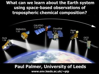 Paul Palmer, University of Leeds env.leeds.ac.uk/~pip
