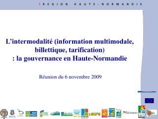 Réunion du 6 novembre 2009