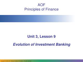AOF Principles of Finance