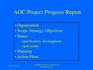 AOC Project Progress Report