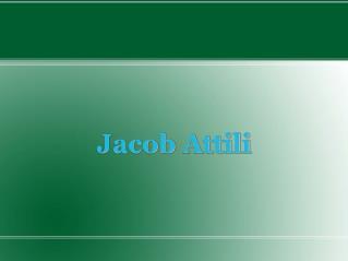 Jacob Attili  Visited Tanzania Lately