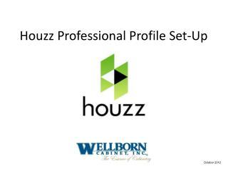 Houzz Professional Profile Set-Up