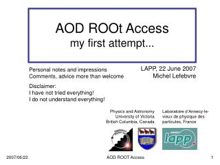 AOD ROOt Access my first attempt...