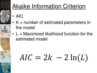 Akaike Information Criterion