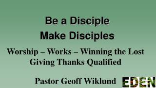 Pastor  Geoff Wiklund