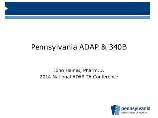 Pennsylvania ADAP & 340B