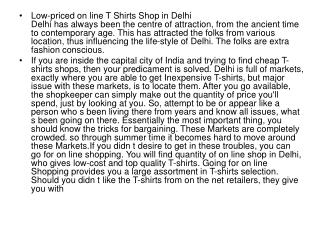 Low priced on line T Shirts Shop in Delhi