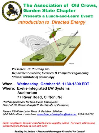 Introduction to  Directed Energy
