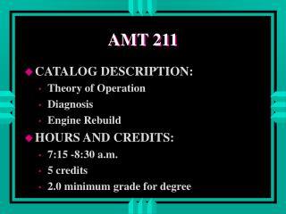 AMT 211