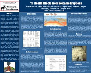11.  Health Effects From Volcanic Eruptions