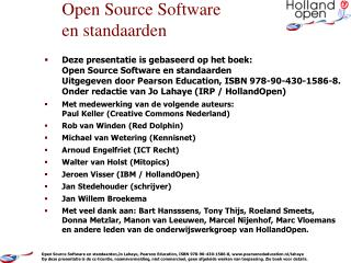 Open Source Software en standaarden