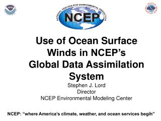"NCEP: ""where America's climate, weather, and ocean services begin"""