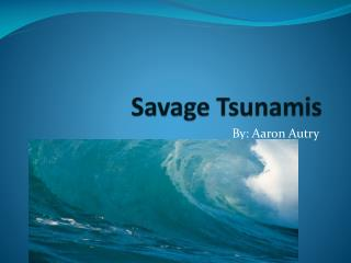 Savage Tsunamis