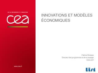 Innovations et modèles économiques