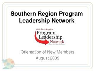 Southern Region Program Leadership Network