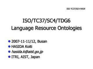 ISO TC37/SC4 N429