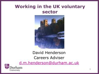 Working in the UK voluntary sector