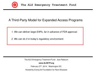 A Third-Party Model for Expanded Access Programs