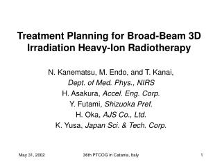 Treatment Planning for Broad-Beam 3D Irradiation Heavy-Ion Radiotherapy