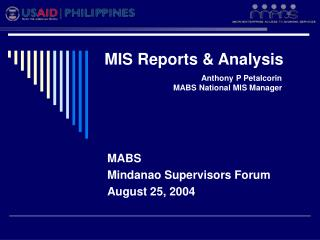 MIS Reports & Analysis