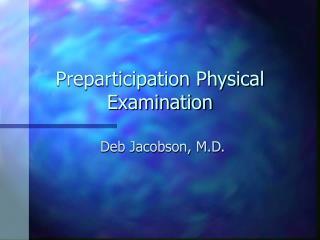 Preparticipation Physical Examination