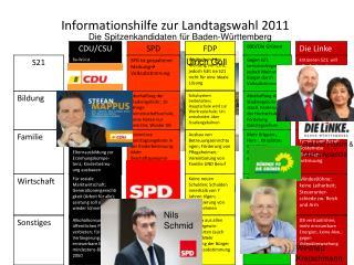 Informationshilfe zur Landtagswahl 2011
