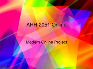 ARH 2051 Online