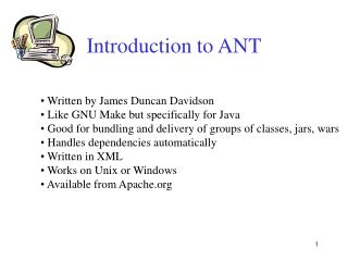 Introduction to ANT