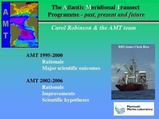 The  A tlantic  M eridional  T ransect  Programme -  past, present and future