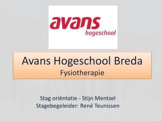 Avans  Hogeschool Breda Fysiotherapie