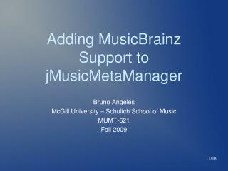 Adding MusicBrainz Support to jMusicMetaManager