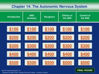 Chapter 14: The Autonomic Nervous System