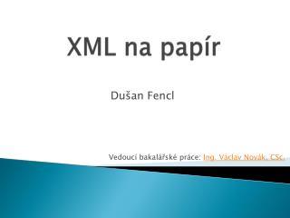 XML na papír