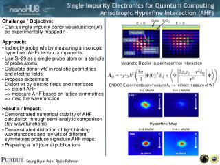 Single Impurity Electronics for Quantum Computing Anisotropic Hyperfine Interaction (AHF)