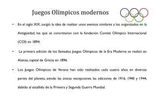 Juegos Olímpicos modernos