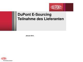 DuPont E-Sourcing  Teilnahme des Lieferanten
