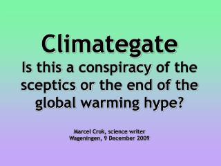 Global warming poll