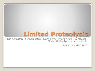 Limited Proteolysis