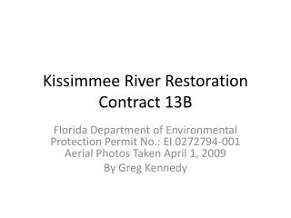 Kissimmee River Restoration Contract 13B