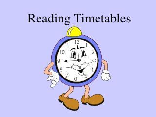 Reading Timetables