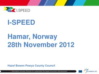 I-SPEED  Hamar, Norway 28th November 2012