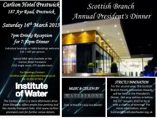 Scottish Branch  Annual President's Dinner
